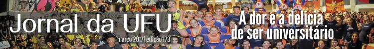 Estudantes integrantes das atléticas durante abertura da Olimpíada Universitária UFU 2016
